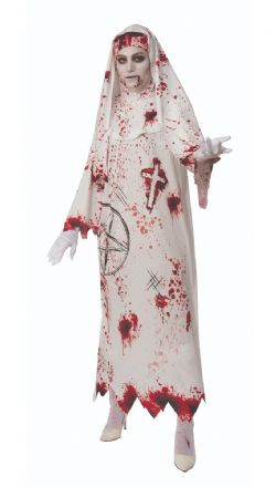 PRIESTS AND NUNS -  BLOODY NUN COSTUME (ADULT - ONE SIZE)