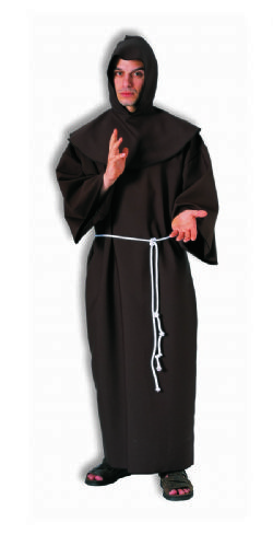 PRIESTS AND NUNS -  MONK ROBE - BROWN (ADULT - ONE SIZE)
