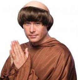 PRIESTS AND NUNS -  MONK WIG - BROWN (ADULT)