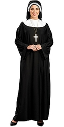 PRIESTS AND NUNS -  NUN COSTUME (ADULT - PLUS SIZE 14-20)