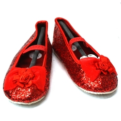 PRINCESS -  RED PRINCESS BALLET SLIPPERS (CHILD)
