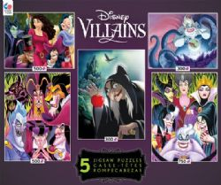 PRINCESSES -  DISNEY VILLAINS (5 JIGSAW PUZZLE , 2 X300, 2 X 500, 1 X 750 PIECES) 2
