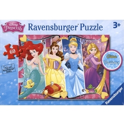 PRINCESSES -  PRINCESSES (60 PIECES) - 3+ -  DISNEY'S PRINCESSES