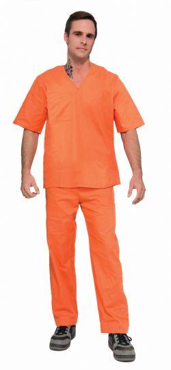 PRISON -  ORANGE PRISONER SUIT COSTUME (ADULT - ONE SIZE)