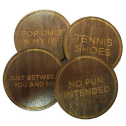 PROJECT GENIUS -  PUZZLE COASTERS (SET OF 4) (DIFFICULTY 4)