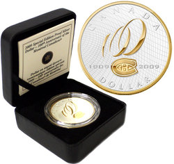 PROOF DOLLARS -  MONTREAL CANADIENS CENTENNIAL -  2009 CANADIAN COINS