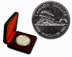 PROOF DOLLARS -  VANCOUVER CENTENNIAL -  1986 CANADIAN COINS 16
