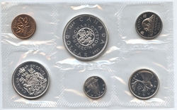 PROOF-LIKE SETS -  1964 UNCIRCULATED PROOF-LIKE SET - WITH DOT -  1964 CANADIAN COINS 12