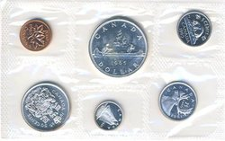 PROOF-LIKE SETS -  1965 UNCIRCULATED PROOF-LIKE SET - VARIETY II -  1965 CANADIAN COINS 13