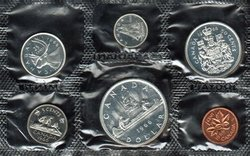 PROOF-LIKE SETS -  1966 UNCIRCULATED PROOF-LIKE SET -  1966 CANADIAN COINS 14