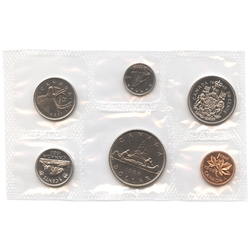 PROOF-LIKE SETS -  1968 UNCIRCULATED PROOF-LIKE SET - NORMAL ISLAND & DOUBLED DIE (DATE) -  1968 CANADIAN COINS 16