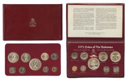 PROOF SETS -  1972 PROOF SET -  1972 BAHAMAS COINS