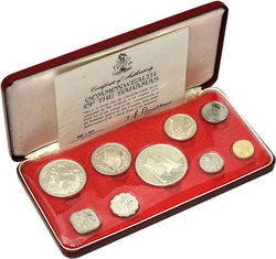 PROOF SETS -  1975 PROOF SET -  1975 BAHAMAS COINS