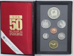 PROOF SETS -  250TH ANNIVERSARY OF THE SAINT-MAURICE IRONWORKS - XEROX PRIVATE MARK -  1988 CANADIAN COINS 18