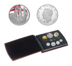 PROOF SETS -  75TH ANNIVERSARY OF V-E DAY: THE ROYAL CANADIAN NAVY -  2020 CANADIAN COINS 50