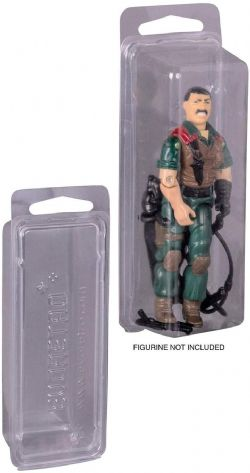 PROTECTOR BOX -  CLEAR PLASTIC RIGID BOX FOR 1977 HASBRO STAR WARS AND GI-JOE 3.75 INCH ACTION FIGURES - COLLECTIBLES BLISTERS CLAMSHELL CASE -