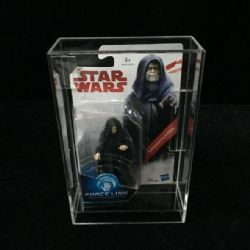 PROTECTOR BOX -  STAR WARS FORCE LINK FIGURINE CLEAR ACRYLIC DISPLAY CASE