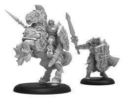 PROTECTORATE OF MENOTH -  CHAMPION OF THE ORDER OF THE WALL - PALADIN DRAGOON SOLO -  WARMACHINE