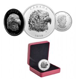 PROUD BALD EAGLE -  2020 CANADIAN COINS