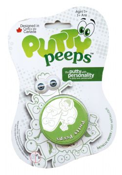 PUTTY PEEPS -  GREEN -  METALLIC COLORS