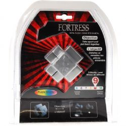 PUZZLE MASTER -  FORTRESS METAL PUZZLE - DIFFICULTY LEVEL 9/10 - MINIMUM ORDER- 6 PCS