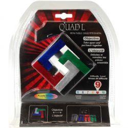 PUZZLE MASTER -  QUAD L METAL PUZZLE - DIFFICULTY LEVEL 9/10 - MINIMUM ORDER- 6 PCS