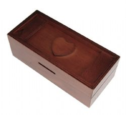 PUZZLE MASTER -  SECRET PUZZLE BOX - HEART BANK