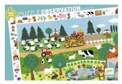 PUZZLE OBSERVATION -  THE FARM (35 PIECES) - 3+
