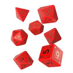 Q WORKSHOP -  RED AND GOLD DICE SET (7) -  RUNEQUEST