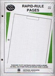 QUADRILLED PAGES -  QUADRILLED PAGES FOR HARRIS ALBUM (RAPID-RULE PAGES)