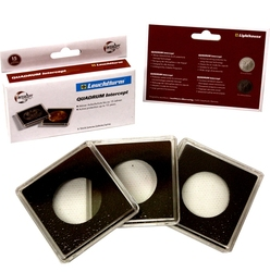 QUADRUM INTERCEPT -  SQUARE CAPSULES WITH PROTECTION FOR 27 MM COINS (PACK OF 6)