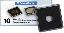 QUADRUM -  SQUARE CAPSULES FOR 14 MM COINS (PACK OF 10)