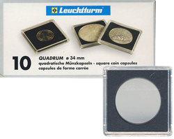 QUADRUM -  SQUARE CAPSULES FOR 34 MM COINS (PACK OF 10)