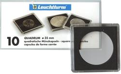 QUADRUM -  SQUARE CAPSULES FOR 35 MM COINS (PACK OF 10)