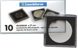 QUADRUM -  SQUARE CAPSULES FOR 37 MM COINS (PACK OF 10)
