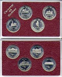 QUEBEC CARNIVAL -  1987 QUEBEC CARNIVAL 4-COIN SET