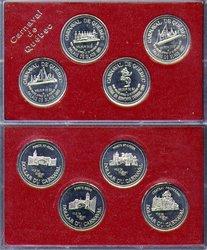 QUEBEC CARNIVAL -  1989 QUEBEC CARNIVAL 4-COIN SET