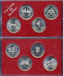 QUEBEC CARNIVAL -  1991 QUEBEC CARNIVAL 4-COIN SET
