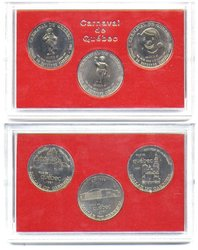 QUEBEC CARNIVAL -  3-COIN SET -  1981 CANADIAN COINS