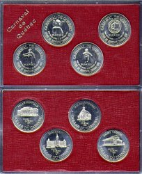 QUEBEC CARNIVAL -  4-COIN SET -  1984 CANADIAN COINS