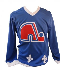 QUEBEC NORDIQUES -  BLANK - REPLICA BLUE JERSEY