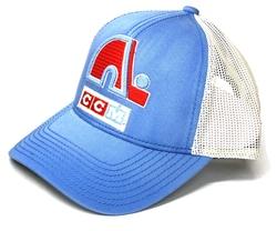 QUEBEC NORDIQUES -  BLUE/BEIGE MESHBACK AJUSTABLE CAP