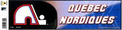 QUEBEC NORDIQUES -  BUMPER STICKER