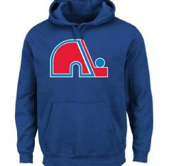 QUEBEC NORDIQUES -  LOGO HOODED FLEECE - BLUE
