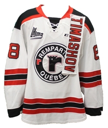 QUEBEC REMPARTS -  2014-15 DMYTRO TIMASHOV  #88 RED GAME-USED JERSEY SIZE 54