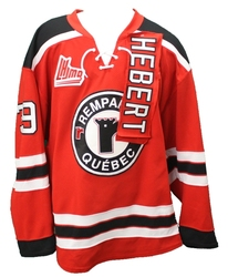 QUEBEC REMPARTS -  2014-15 NICOLAS HEBERT #39 RED GAME-USED JERSEY SIZE 56
