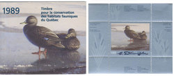 QUEBEC WILDLIFE HABITAT CONSERVATION -  1989 BLACK DUCKS (SIGNED) 02