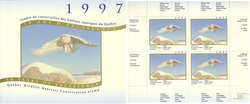 QUEBEC WILDLIFE HABITAT CONSERVATION -  1997 SNOWY OWL - BLOCK OF 4 10