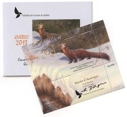 QUEBEC WILDLIFE HABITAT CONSERVATION -  2013 PINE MARTEN (UNSIGNED) 26