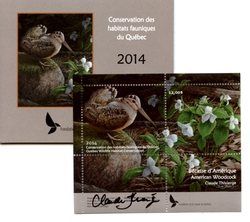 QUEBEC WILDLIFE HABITAT CONSERVATION -  2014 AMERICAN WOODCOCK (SIGNED) 27